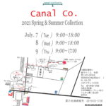 CANAL単独展示会for2021春夏開催